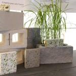 Blocs de béton / Blocs de béton conçu avec l'ajout cimentaire Verrox