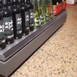 Plancher de succursale de la SAQ / Plancher de succursale de la SAQ avec incorporation d'agrégat de verre et Verrox
