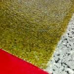 Plancher de béton / Intégration de sable de verre et époxy dans plancher de béton. Réalisation : Béton Solution