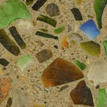 Countertop / Countertop with glass aggregates and Verrox